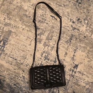 Rebecca Minkoff Black Quilted Crossbody Handbag